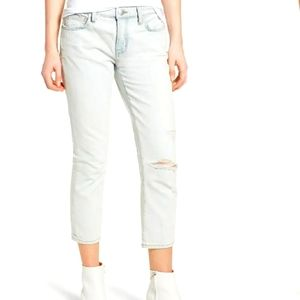 Current/Elliot The Cropped Straight Leg Jeans